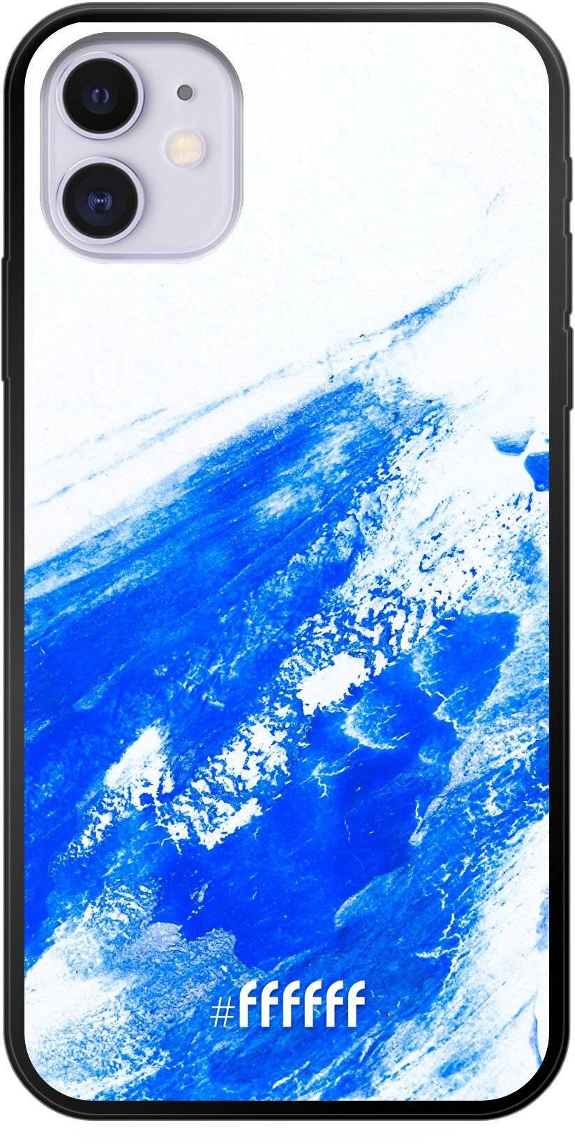 Blue Brush Stroke iPhone 11