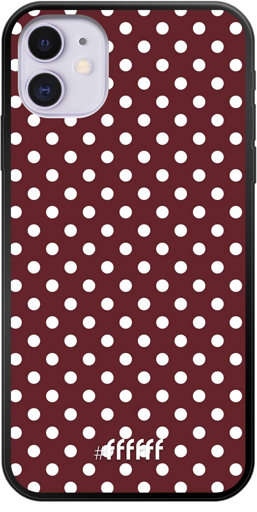 Burgundy Dots iPhone 11