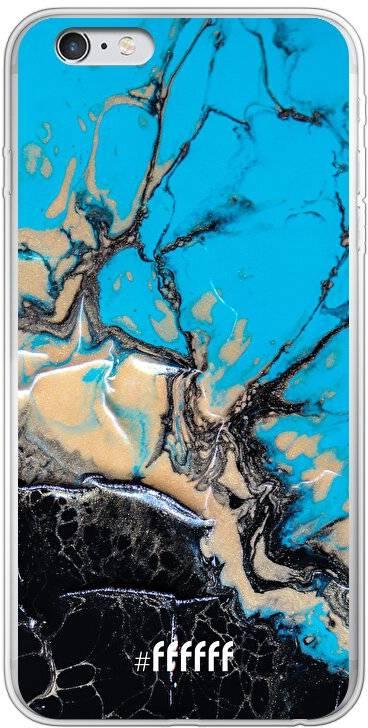 Blue meets Dark Marble iPhone 6 Plus