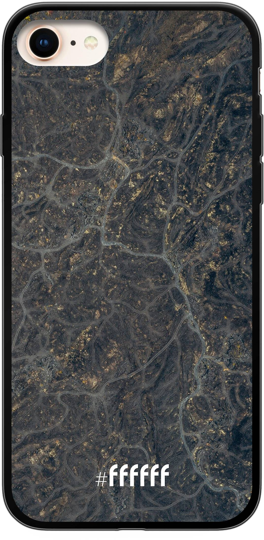 Golden Glitter Marble iPhone 7