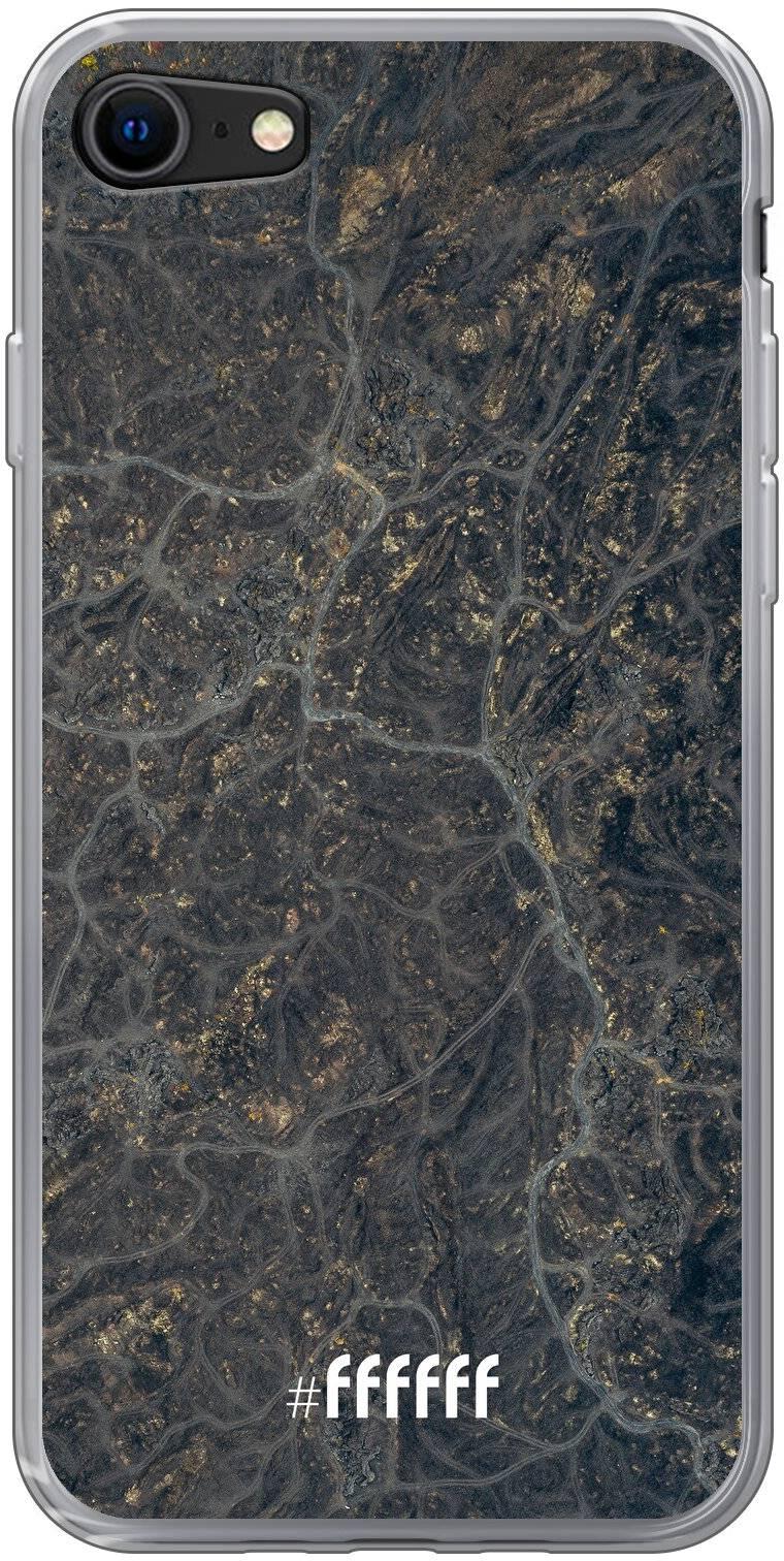 Golden Glitter Marble iPhone 8
