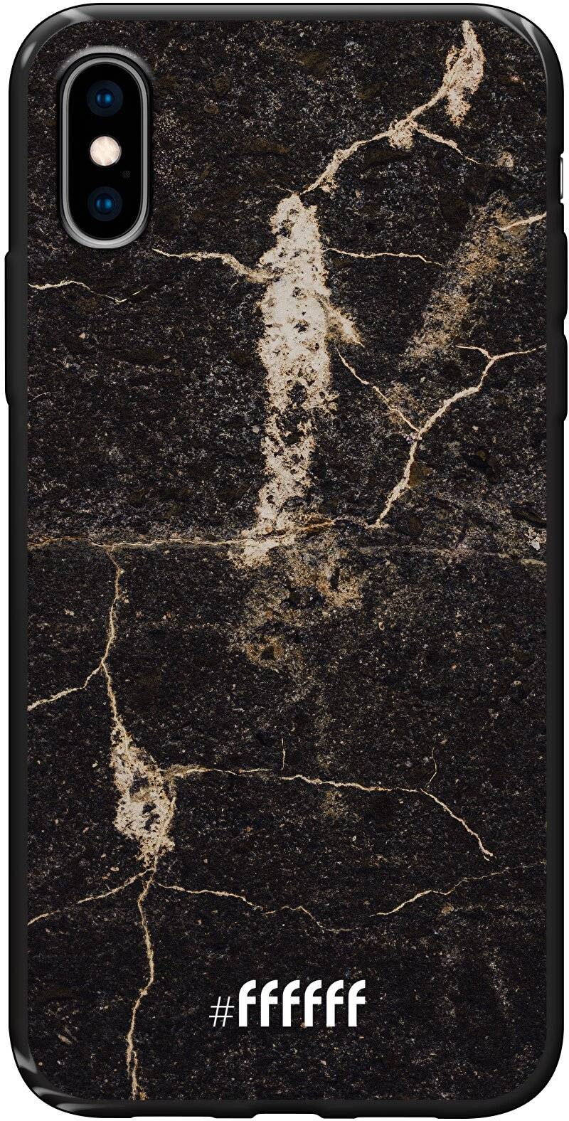Dark Golden Marble iPhone Xs